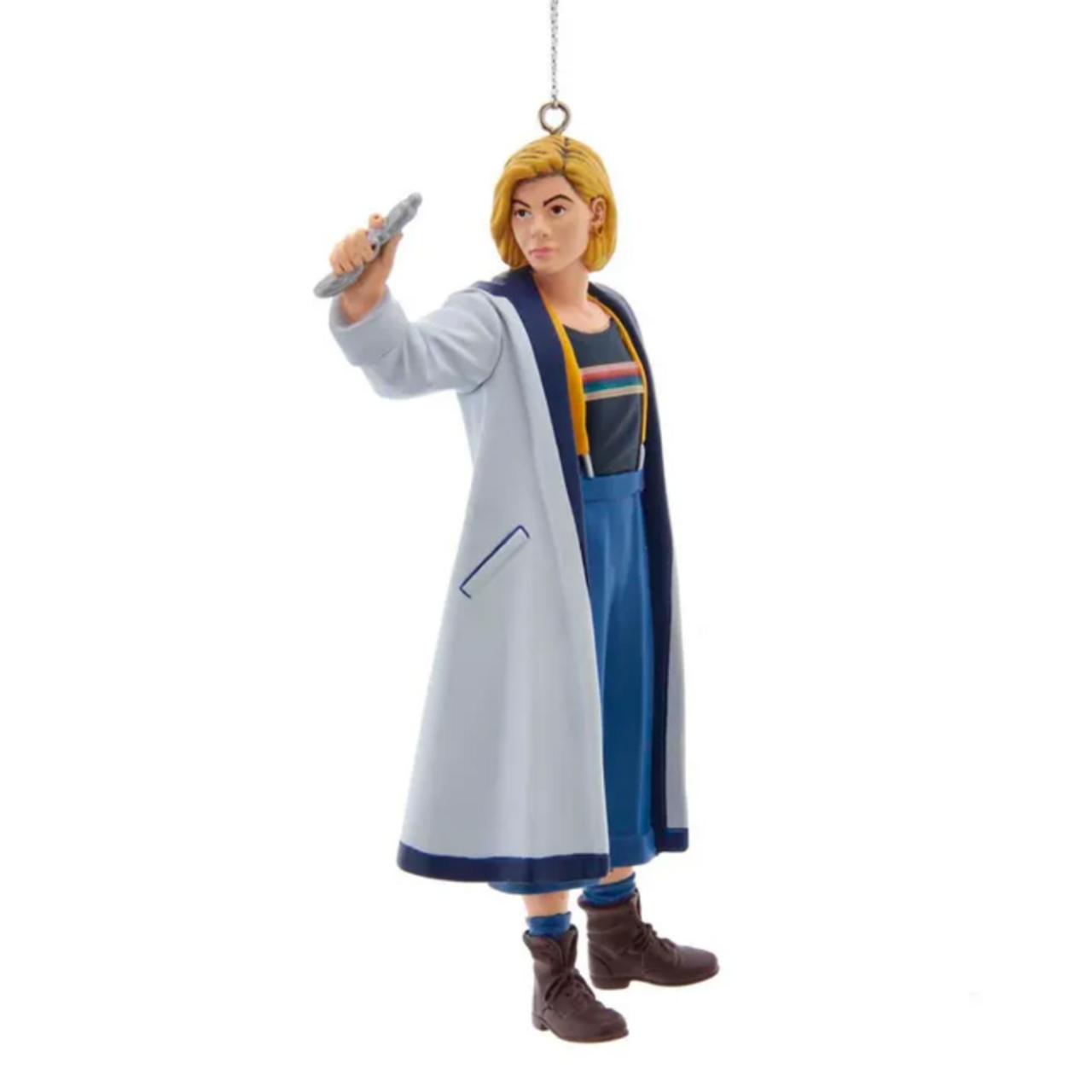 13th Doctor With Sonic Screwdriver Ornament (v. 2020)