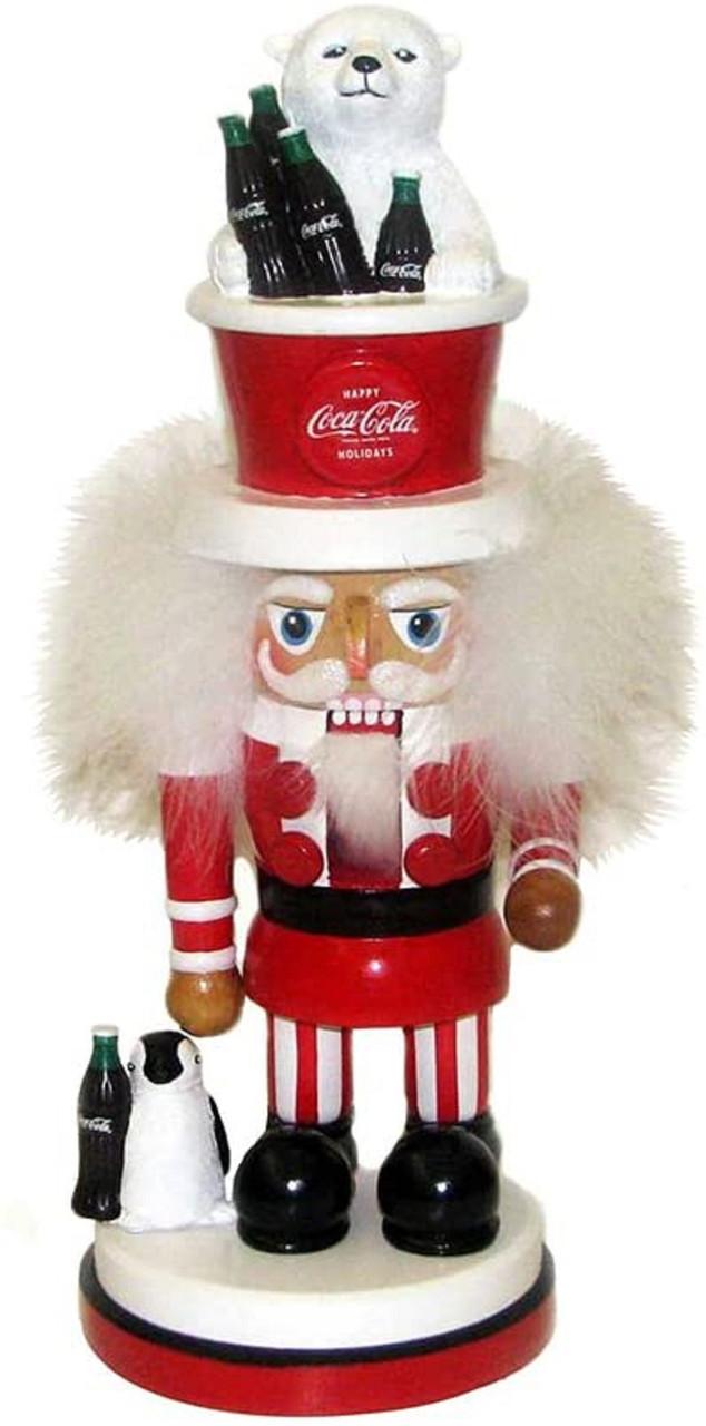 """15"""" Coca-cola Nutcracker With Polar Bear"""
