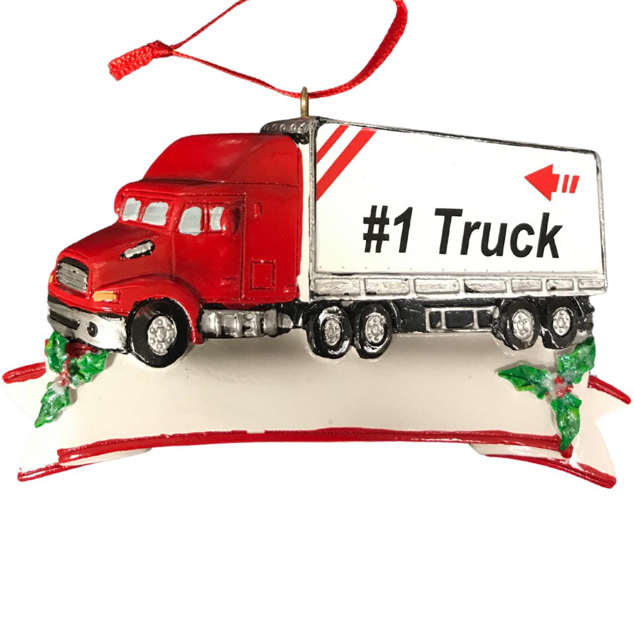 #1 Trucker Personalized Ornament