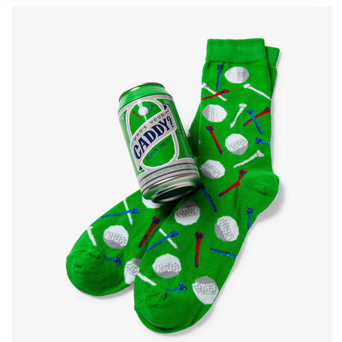 Who's Your Caddy Beer Can socks by Little Blue House