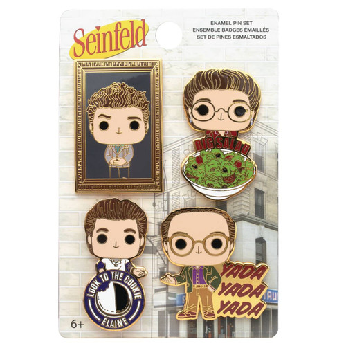 Funko Seinfeld Pop! Characters Enamel Pin Set of 4