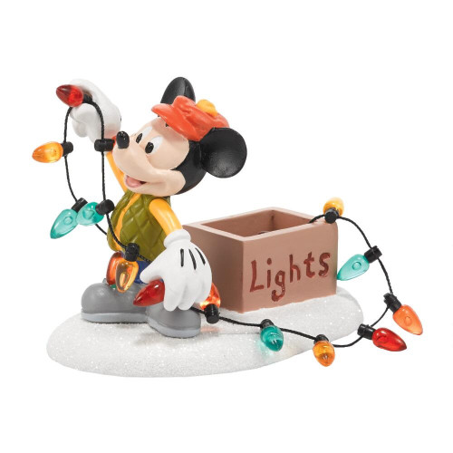 Mickey Lights Up Christmas figurine