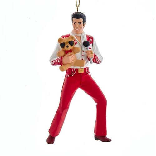 Elvis With Teddy Bear Ornament
