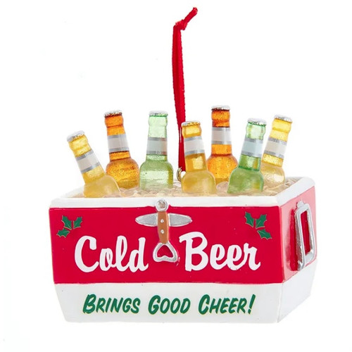 Cold Beer Brings Good Cheer Cooler Ornament