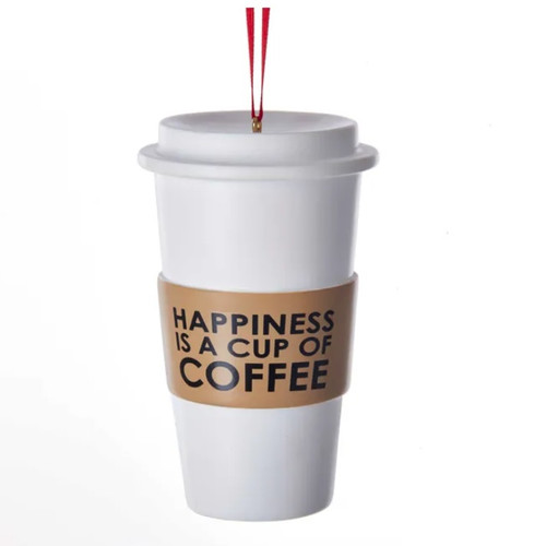 Happiness is a Cup of Coffee Ornament