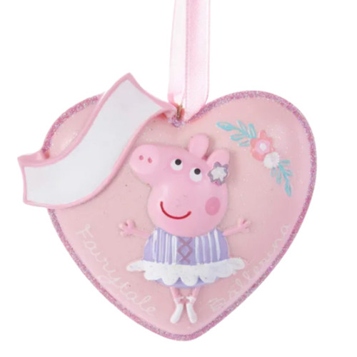 Peppa Pig Heart Personalized Ornament