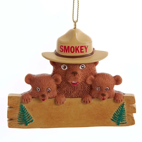 Smokey the Bear and Cubs Personalized Ornament