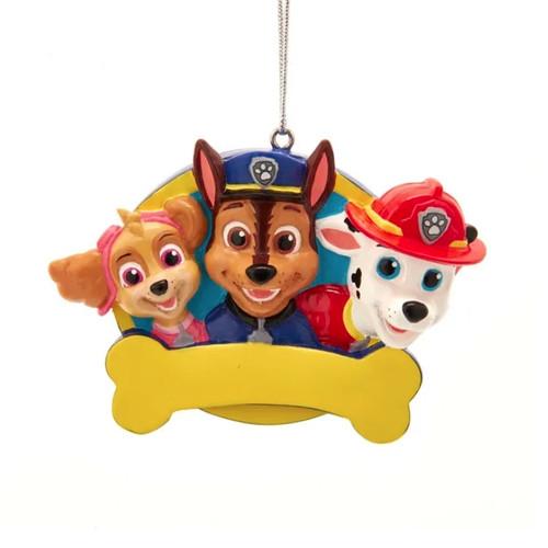 Paw Patrol With Bone Personalized Ornament