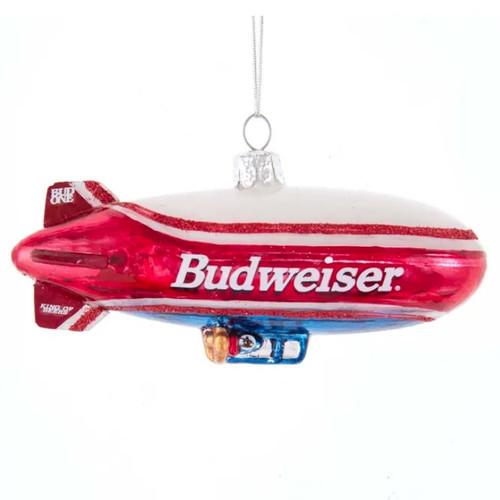 Budweiser Blimp Glass Ornament