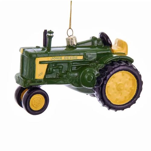 John Deere Tractor Glass Ornament