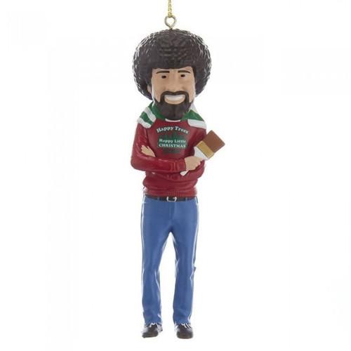 Bob Ross Happy Little Christmas Ornament