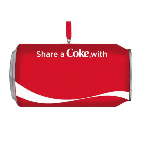 "Coca-Cola ""Share a Coke With"" Can Personalized Ornament"