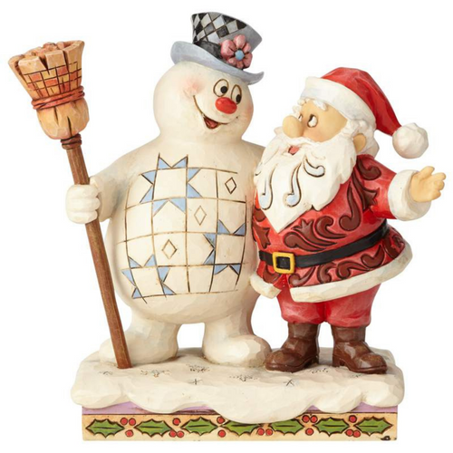 Frosty and Santa Figure