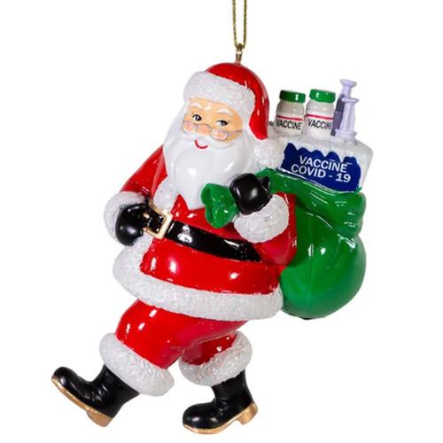 Vaccine Santa Ornament
