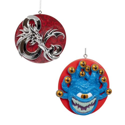 Dungeons & Dragons Ampersand & Beholder Christmas Ornaments - SET of 2