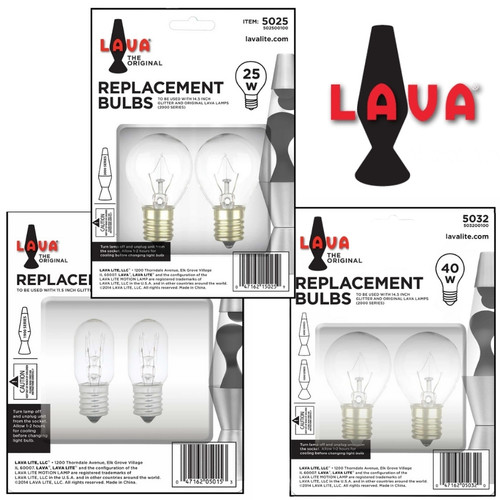 Lava Lamp Replacement Bulbs - 15W, 25W or 40W