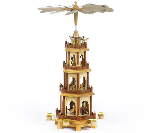 Christmas Pyramid.Cousin Eddie S 4 Tier Wooden Christmas Pyramid Carousel 20