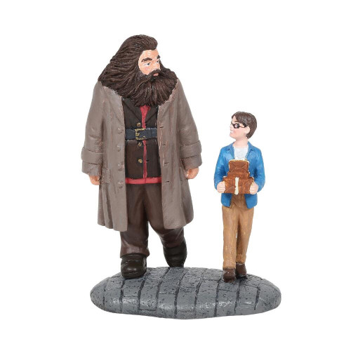Hagrid and Harry - Wizarding Equipment