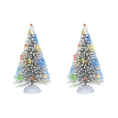 Frosted White Sisal Tree Set