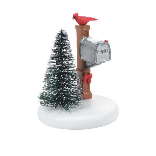 Cardinal Christmas Mailbox Department 56 Accessory