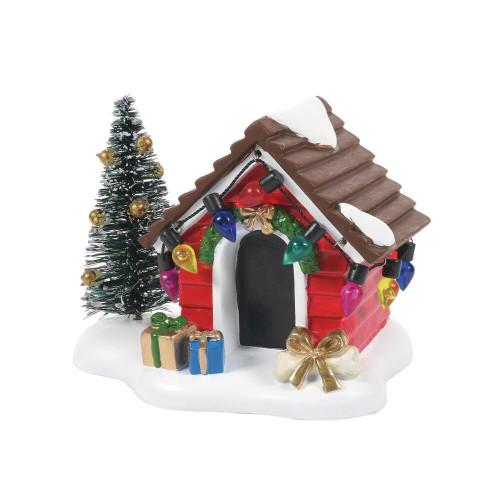 Fido's Christmas Getaway Doghouse
