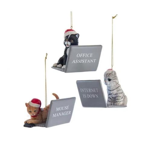Computer Cats Ornaments