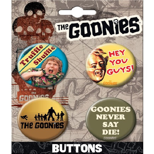 The Goonies Button Set of Four