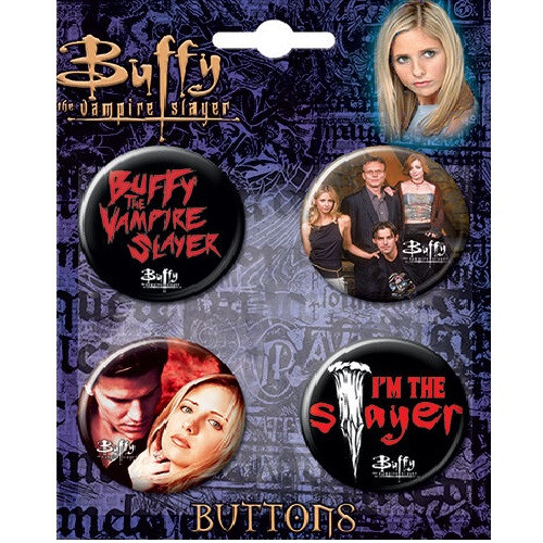 Buffy The Vampire Slayer Button Set of Four