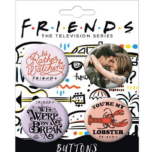 I'd Rather Be Watching Friends Button Set of Four