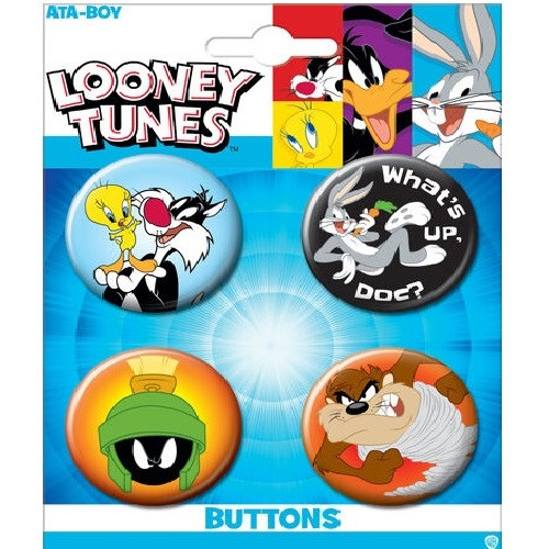 Looney Tunes Button Set of Four