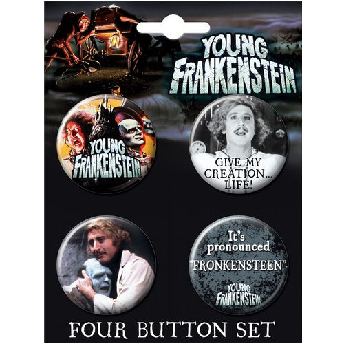 Young Frankenstein Button Set of Four