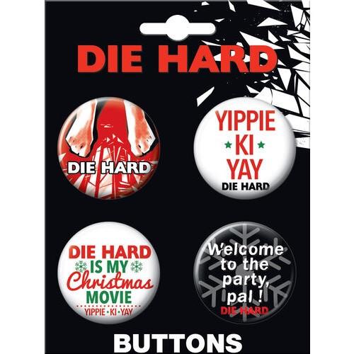 Die Hard Button Set of Four