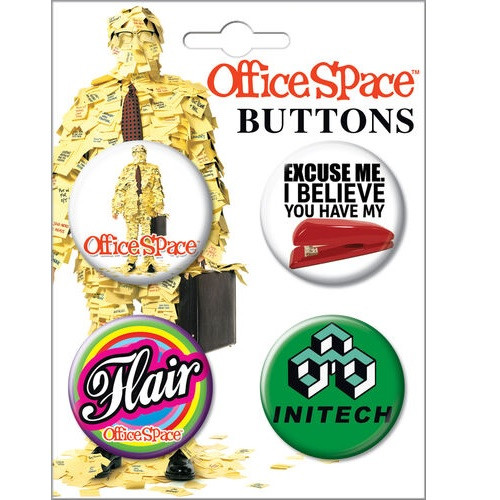 Office Space Button Set of Four