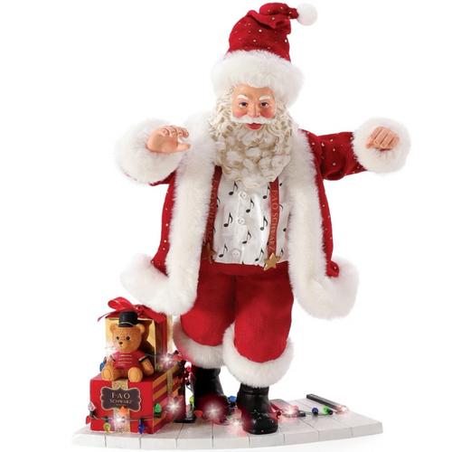 Santa on FAO Schwarz Piano Figure