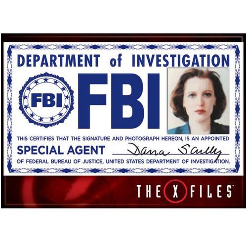 The X-Files Scully FBI Badge Fridge Magnet