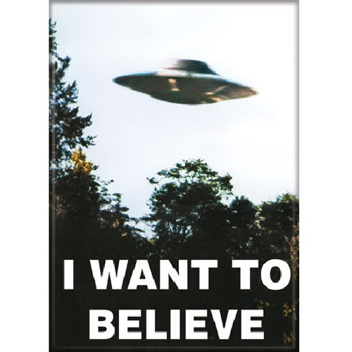 The X-Files I Want To Believe Fridge Magnet