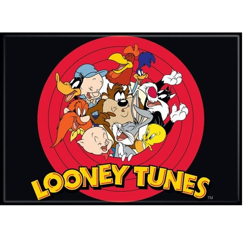 Looney Tunes Group Circle Fridge Magnet