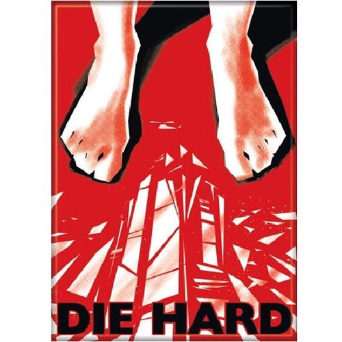 Die Hard Feet and Glass Fridge Magnet