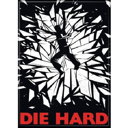 Die Hard Body and Glass Fridge Magnet