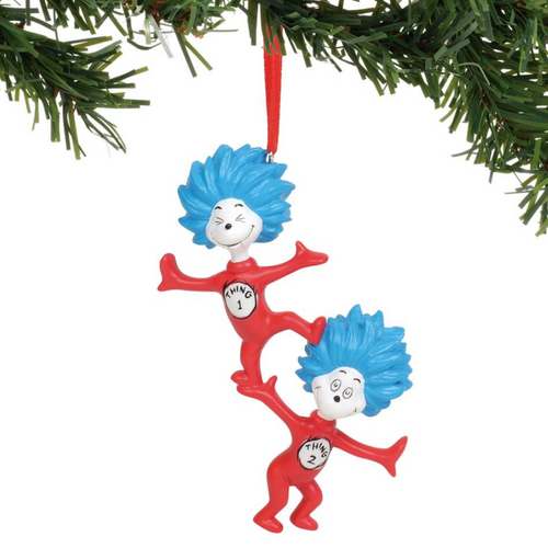 Thing One Thing Two Ornament
