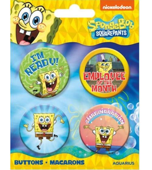 SpongeBob SquarePants Button Set of Four