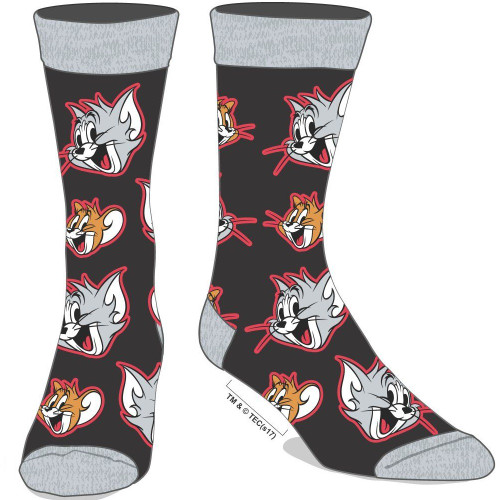 Tom and Jerry Men's Crew Socks by Bioworld