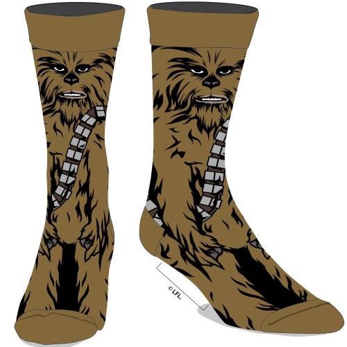 Star Wars Chewbacca 360 Character Men's Crew Socks by Biworld