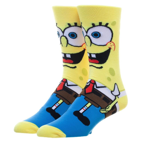 SpongeBob SquarePants 360° Character Design Crew Socks by Bioworld