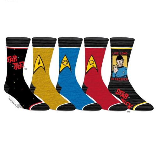Star Trek 5 Pack of Men's Crew Socks by Bioworld