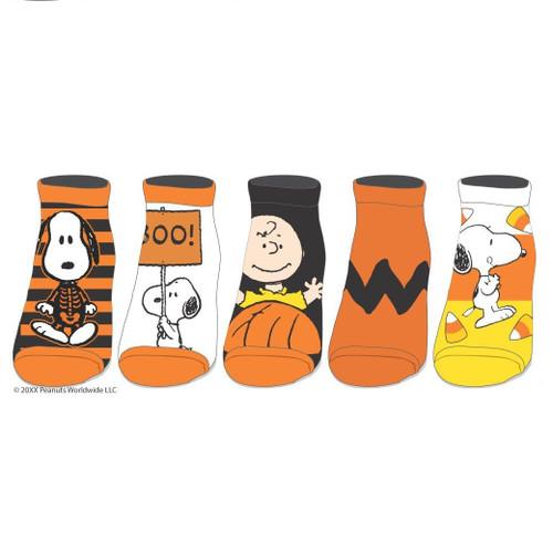 Peanuts Halloween 5 Pair Men's Ankle Socks by Bioworld