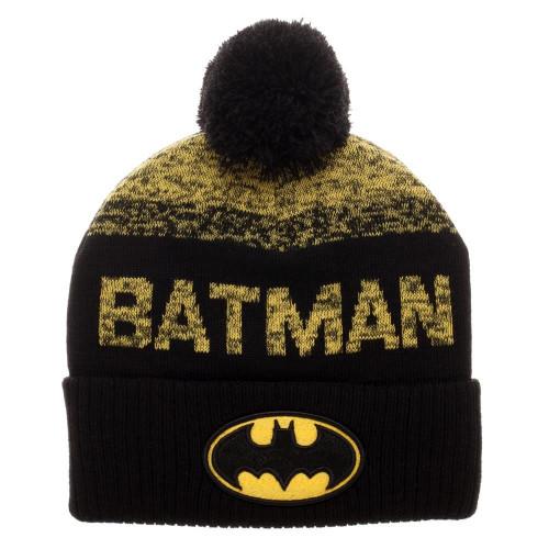 Batman Emblem and Name Toque with Pom Pom