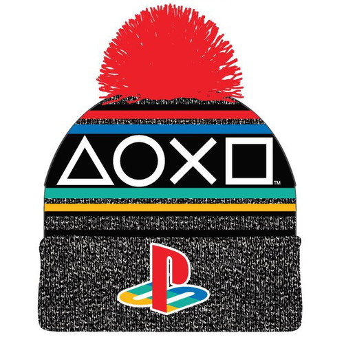 Sony PlayStation Retro Toque with Pom Pom