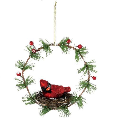Cardinal Nest Wreath Ornament