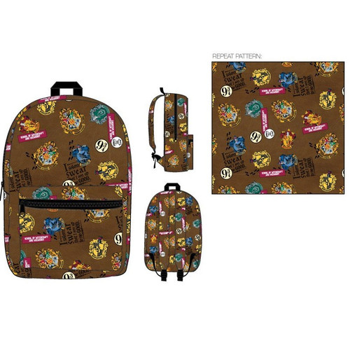 Harry Potter All Over Print Backpack